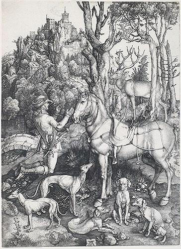 Saint Eustace, c.1500/01   Durer   Painting Reproduction