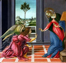 Botticelli | The Cestello Annunciation, c.1489 by | Giclée Canvas Print
