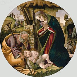 Botticelli | Adoration of the Christ Child, c.1500 | Giclée Canvas Print