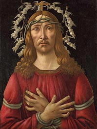 Botticelli | Christ as Man of Sorrows with Angels Halo, Undated | Giclée Canvas Print
