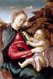 Botticelli | Madonna Guidi, c.1465/70 | Giclée Canvas Print
