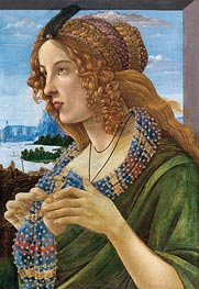 Botticelli | Allegorical Portrait of a Woman (Simonetta Vespucci), Undated | Giclée Canvas Print