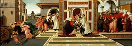 Botticelli | Four Scenes from the Early Life of Saint Zenobius  from Two Spalliera Panels, c.1500 | Giclée Canvas Print