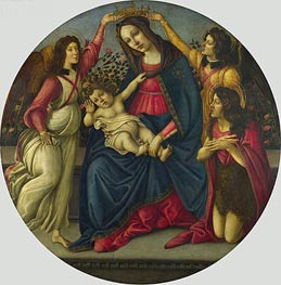 Botticelli | The Virgin and Child with Saint John and Two Angels, c.1490/00 | Giclée Canvas Print