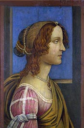 Botticelli | A Lady in Profile, c.1490 | Giclée Canvas Print