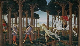 Botticelli | The Story of Nastagio degli Onesti I, c.1483 | Giclée Canvas Print