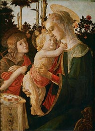Botticelli | Madonna and Child with the Young St. John the Baptist | Giclée Canvas Print
