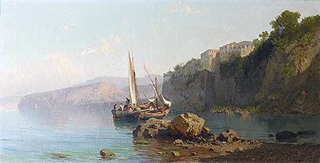 Passage of Roseto, Sorrento, 1878 | Alessandro la Volpe | Painting Reproduction