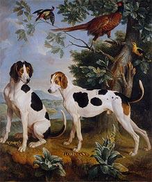 Alexandre-François Desportes   Pompée and Florissant, the Dogs of Louis XV, 1739   Giclée Canvas Print