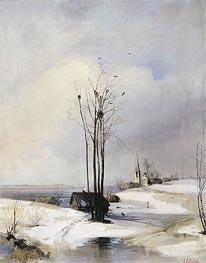 Alexey Savrasov | Early Spring. Thaw, a.1880 | Giclée Canvas Print