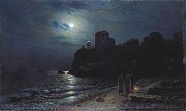 Alexey Savrasov | Moonlight on the Edge of a Lake, 1870 | Giclée Canvas Print