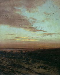 Alexey Savrasov | Evening. Flight of Birds, 1874 | Giclée Canvas Print