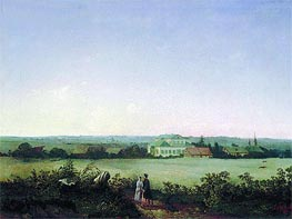Alexey Savrasov | View of Vicinities of Moscow with Manor and Two Female Figures, 1850 | Giclée Canvas Print