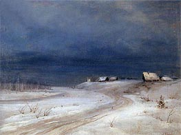 Alexey Savrasov | Winter Landscape, c.1880/90 | Giclée Canvas Print