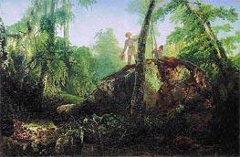 Alexey Savrasov | Stone in Wood at 'Flood'. View in Luzhina's Manor near Station Vlahernskaja, 1850 | Giclée Canvas Print