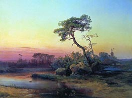 Alexey Savrasov | Landscape with a Pine, 1854 | Giclée Canvas Print