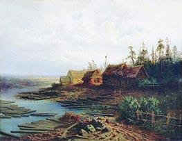 Alexey Savrasov | Rafts, 1868 | Giclée Canvas Print