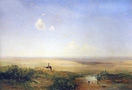 Alexey Savrasov | Steppe. Afternoon, 1852 | Giclée Canvas Print