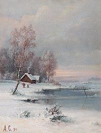 Alexey Savrasov | Coast during Winter, 1891 | Giclée Canvas Print