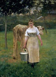 Alfred Roll | Manda Lametrie, Farm Girl, 1887 | Giclée Canvas Print