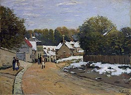 Alfred Sisley | Early Snow at Louveciennes, c.1870/71 | Giclée Canvas Print