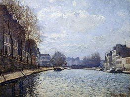 Alfred Sisley | View of the Canal St. Martin, 1870 | Giclée Canvas Print