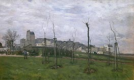 Alfred Sisley | View of Montmartre from the Cite des Fleurs, 1869 | Giclée Canvas Print