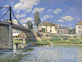 Alfred Sisley | The Bridge at Villeneuve la Garenne | Giclée Canvas Print
