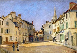 Alfred Sisley | Square in Argenteuil (rue de la Chaussee), 1872 | Giclée Canvas Print