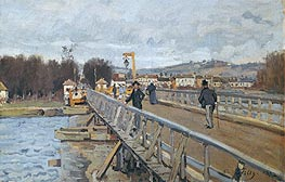 Alfred Sisley | Footbridge at Argenteuil, 1872 | Giclée Canvas Print