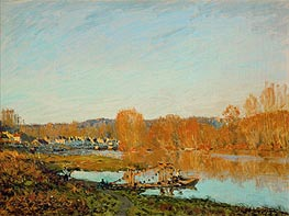Alfred Sisley | Autumn - Banks of the Seine near Bougival, 1873 | Giclée Canvas Print