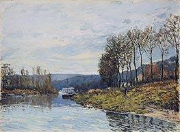 Alfred Sisley | The Seine at Bougival, 1873 | Giclée Canvas Print