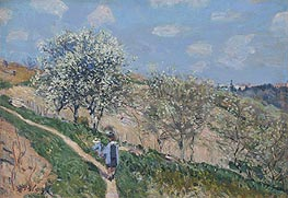 Alfred Sisley | Spring in Bougival, c.1873 | Giclée Canvas Print