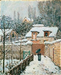 Alfred Sisley | Snow at Louveciennes, 1874 | Giclée Canvas Print