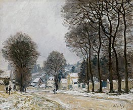 Alfred Sisley | Snow at Louveciennes, c.1874 | Giclée Canvas Print