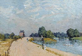 Alfred Sisley | The Road to Hampton Court, 1895 | Giclée Canvas Print
