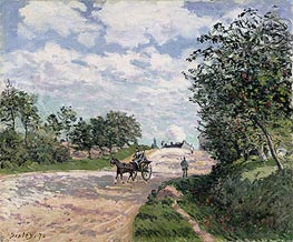 Alfred Sisley | The Road to Nantes at Choisy le Roy, 1874 | Giclée Canvas Print
