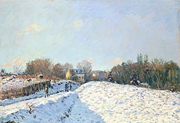 Alfred Sisley | Effect of Snow at Argenteuil, 1874 | Giclée Canvas Print