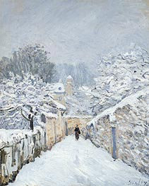 Alfred Sisley | Snow at Louveciennes, 1878 | Giclée Canvas Print