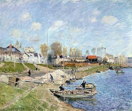 Alfred Sisley | Sand on the Quayside, Port-Marly, 1875 | Giclée Canvas Print