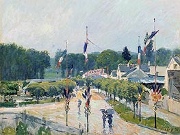 Alfred Sisley | Fourteenth of July at Marly-le-Roi, 1875 | Giclée Canvas Print