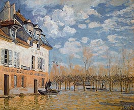 Alfred Sisley | The Boat in the Flood, Port-Marly, 1876 | Giclée Canvas Print