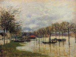Alfred Sisley | The Flood on the Road to Saint-Gemain, 1876 | Giclée Canvas Print