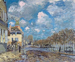 Alfred Sisley | The Flood at Port-Marly | Giclée Canvas Print