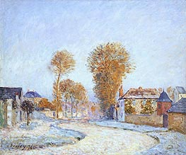 Alfred Sisley | The First White Frost | Giclée Canvas Print