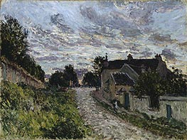 Alfred Sisley | A Small Street in Louveciennes | Giclée Canvas Print