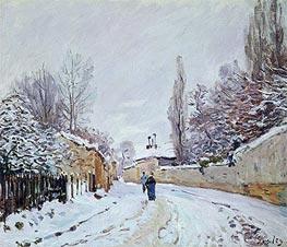 Alfred Sisley | Road under Snow, Louveciennes, c.1876 | Giclée Canvas Print