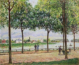 Alfred Sisley | Street of Spanish Chestnut Trees by the River, 1878 | Giclée Canvas Print