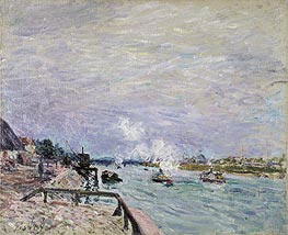 Alfred Sisley | The Seine at Grenelle - Rainy Weather, 1878 | Giclée Canvas Print