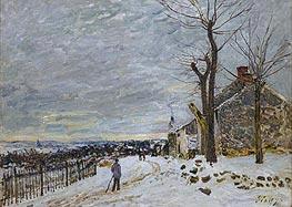 Alfred Sisley | Snow at Veneux-Nadon, 1880 | Giclée Canvas Print